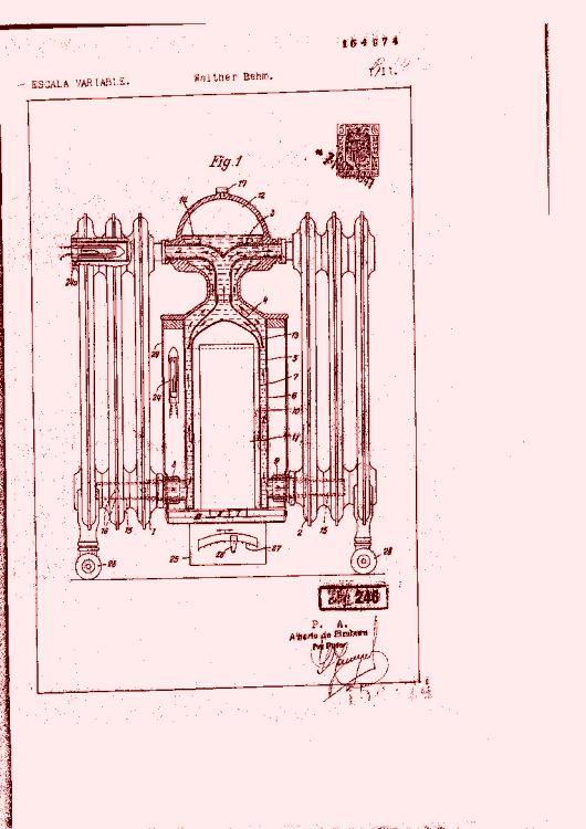 Un radiador de calefacci n por agua caliente con fuente de - Radiador agua calefaccion ...