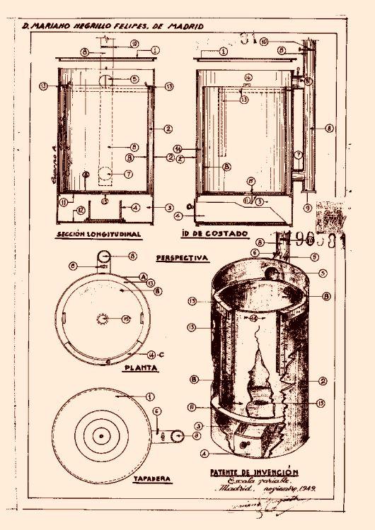 Un aparato para calefacci n alimentado especialmente con - La antigua viruta ...
