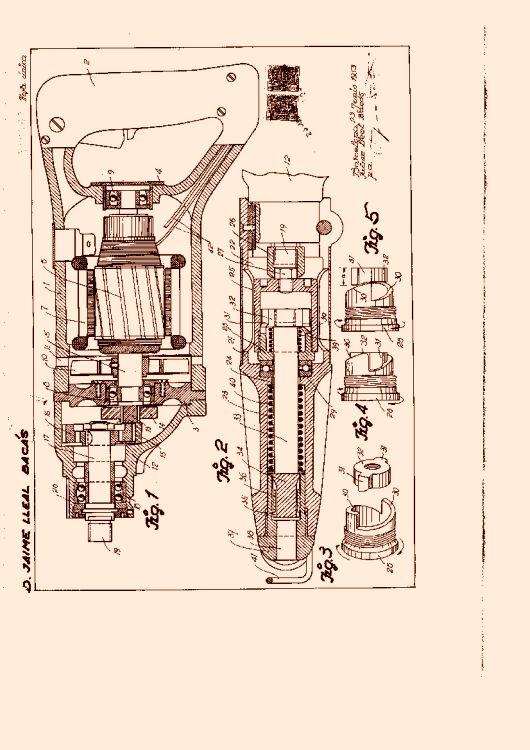 Martillo vibratorio electrico 1 de octubre de 1953 - Martillo cincelador electrico ...