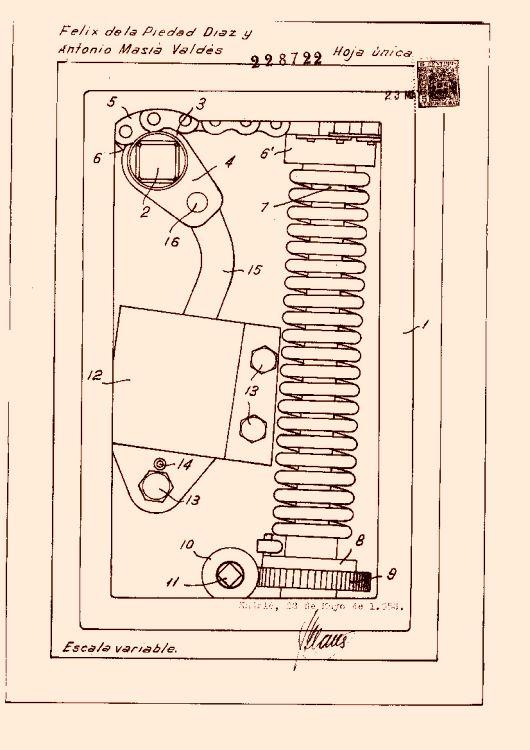 Mecanismo para el cierre autom tico de puertas 1 - Cierres automaticos para puertas ...