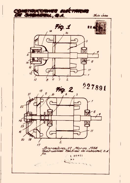 UN ELECTROMOTOR PROVISTO DE FRENO AUTOMÁTICO.
