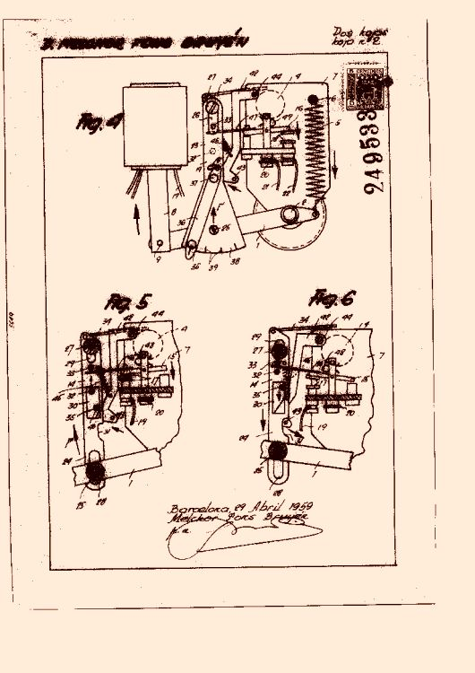 APARATO ELECTROMECÁNICO PARA EL DISPARO AUTOMÁTICO EN INTERRUPTORES, CONMUTADORES Y SIMILARES.