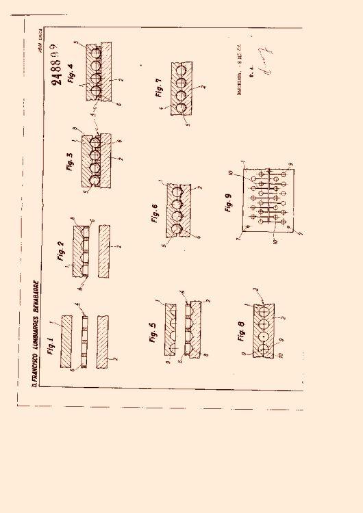 PROCEDIMIENTO PARA LA CONSTRUCCIÓN DE MOLDES PARA LA FABRICACIÓN MÚLTIPLE DE BOLAS.