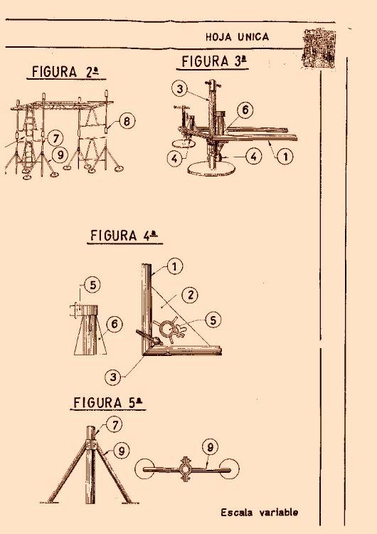 Perfeccionamientos introducidos en andamios y caballetes for Caballetes metalicos