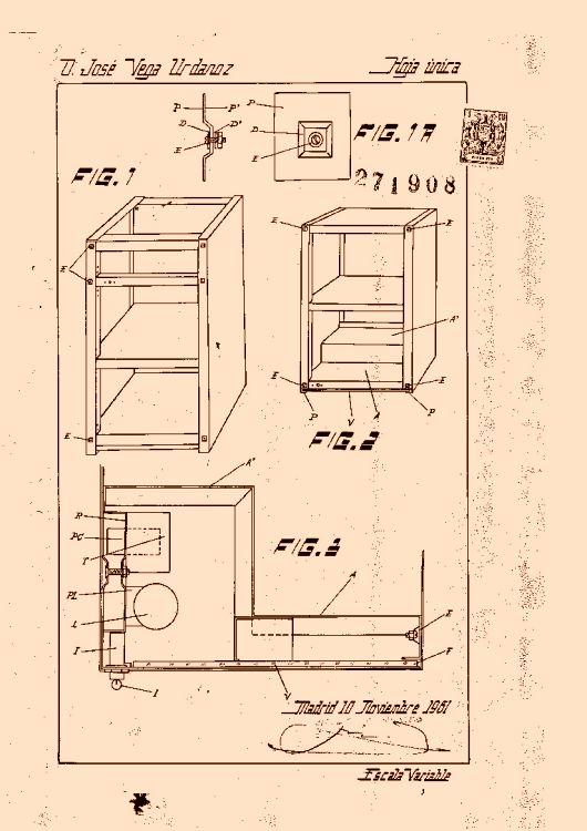 Perfeccionamientos en la fabricaci n de armarios met licos - Muebles de cocina metalicos ...
