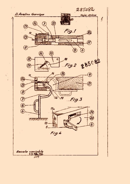 Garriga pomar avelino 25 patentes modelos y o dise os for Muebles avelino