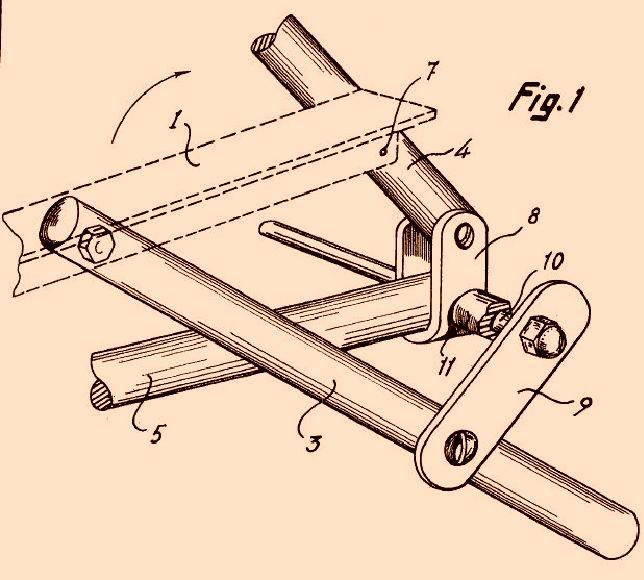 Perfeccionamientos en los mecanismos de articulaci n para for Silla escalera plegable planos