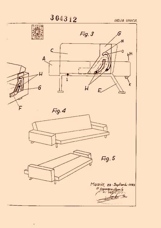 Perfeccionamientos en los mecanismos de sofas camas 16 de - Mecanismos para sofas ...