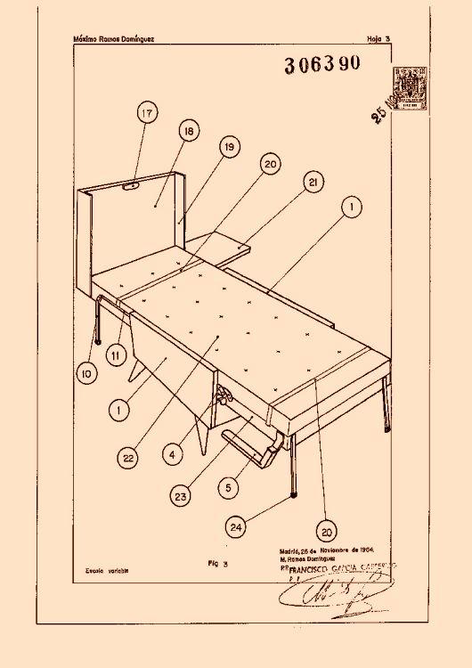 Perfeccionamientos en las estructuras plegables para muebles for Muebles transformables