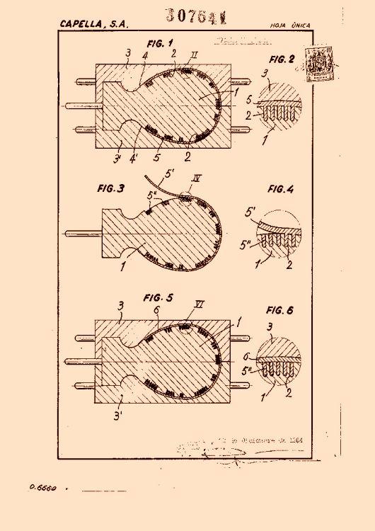 Procedimiento de fabricacion por vulcanizacion en molde de gorras ...