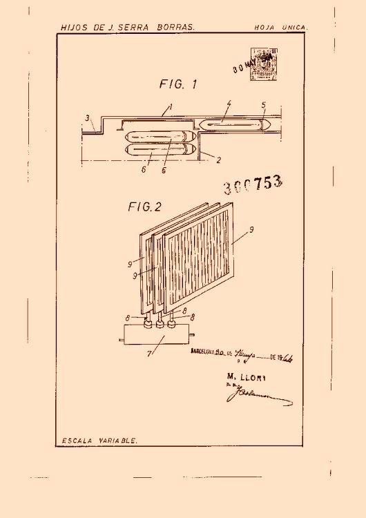 Hijos de j serra borras 19 patentes modelos y o dise os for Accionamiento neumatico