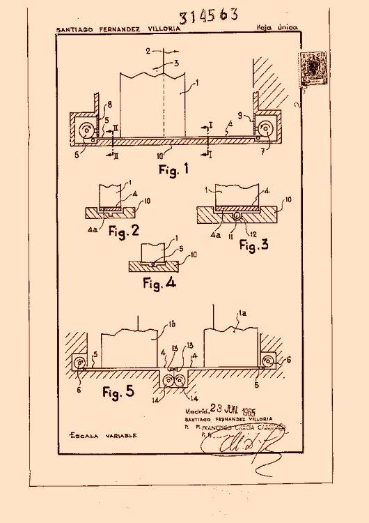 Perfeccionamientos en el mecanismo de accionamiento y guia - Mecanismos de puertas correderas ...