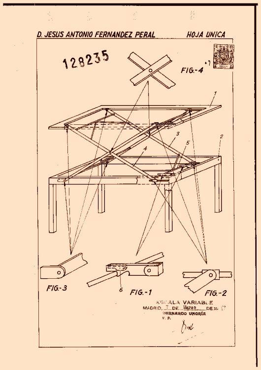 Mesa de centro convertible en mesa de comedor for Partes de una mesa