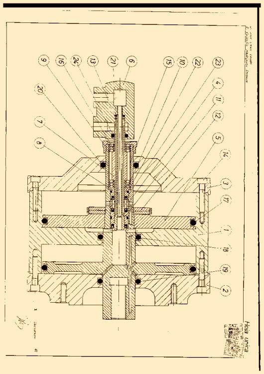 Cilindro de doble camara con accionamiento neumatico e for Accionamiento neumatico