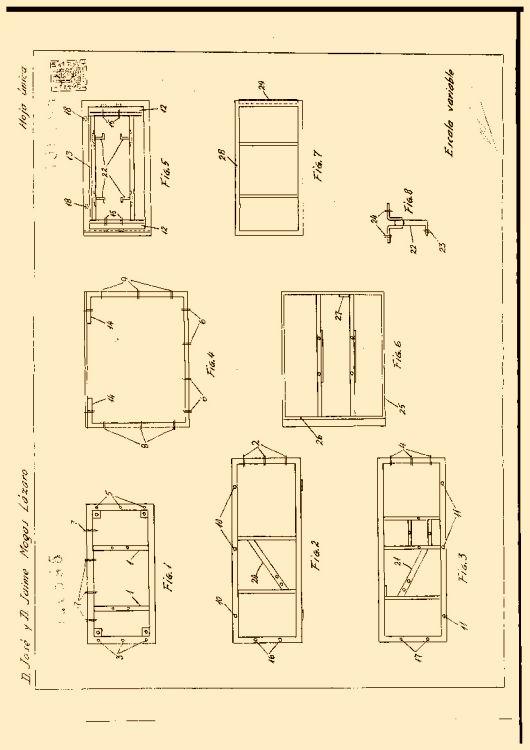 Muebles para maquinas de coser 16 de abril de 1968 - Mueble para maquina de coser ...