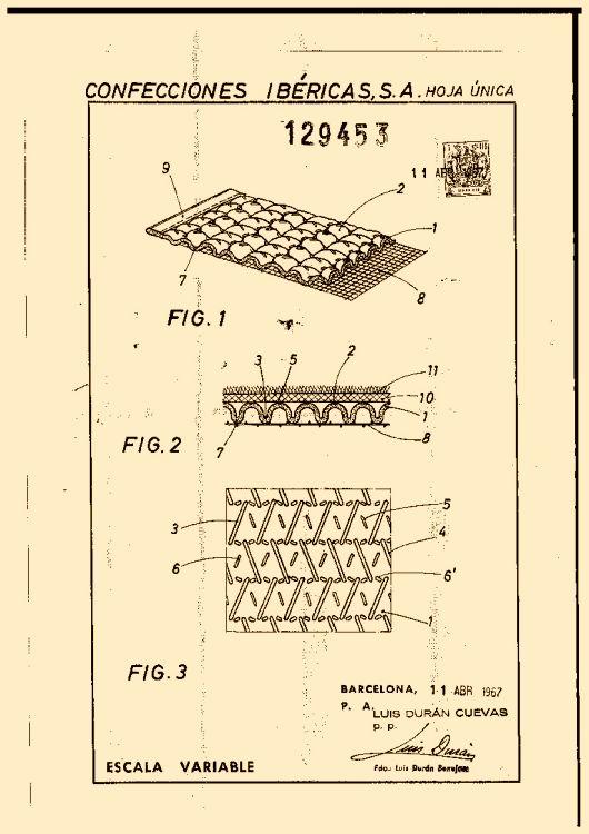 Confecciones ibericas s a 6 patentes modelos y o dise os for Clasificacion de alfombras