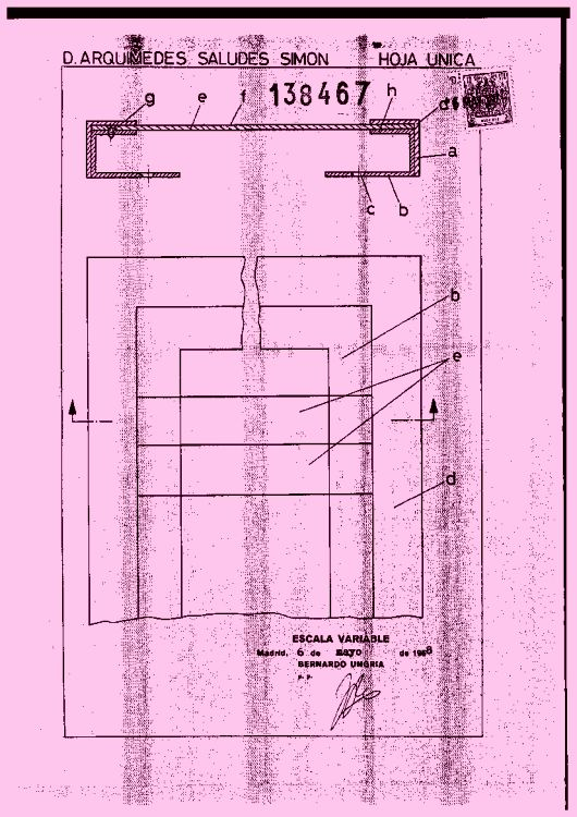 Marco perfeccionado para carteleras y similares (1 de mayo de 1969).