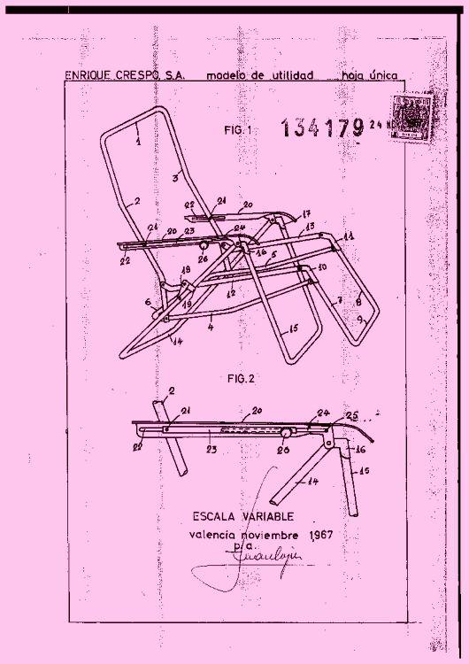 Sillon reclinable y plegable 1 de marzo de 1969 for Sofa cama monoplaza