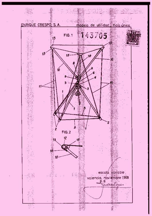 Taburete plegable 19 16 de noviembre de 1969 for Sofa cama monoplaza