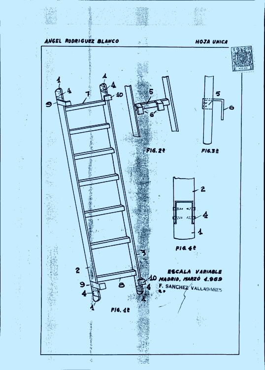 Escalera extensible 3 1 de marzo de 1970 for Escaleras extensibles