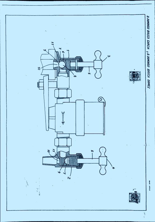Un juego de llaves de paso para contadores de agua for Llave de paso de agua
