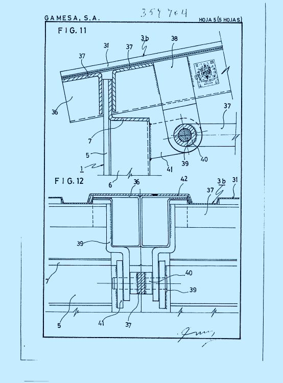 Gamesa s a 37 patentes modelos y o dise os for Cobertizos prefabricados metalicos