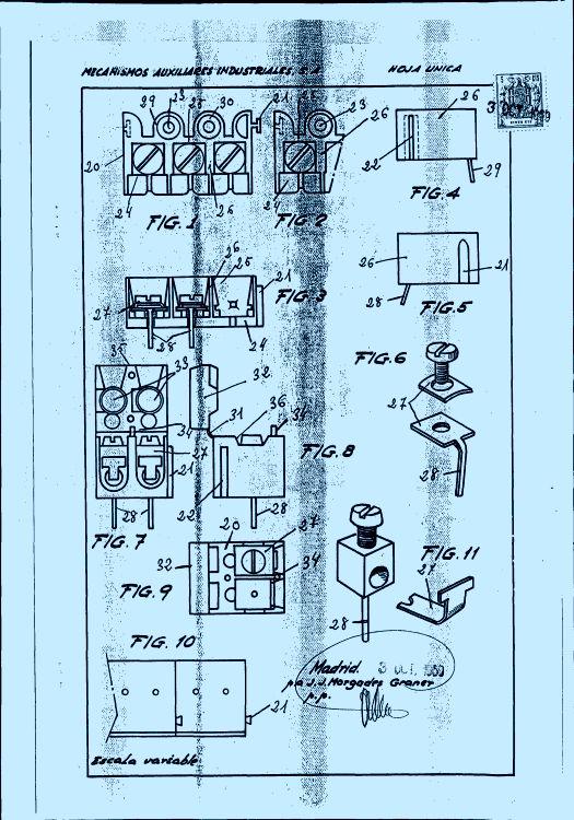 REGLETA DE CONEXIONES ELECTRICAS PERFECCIONADA, PARA CIRCUITOS ELECTRICOS.