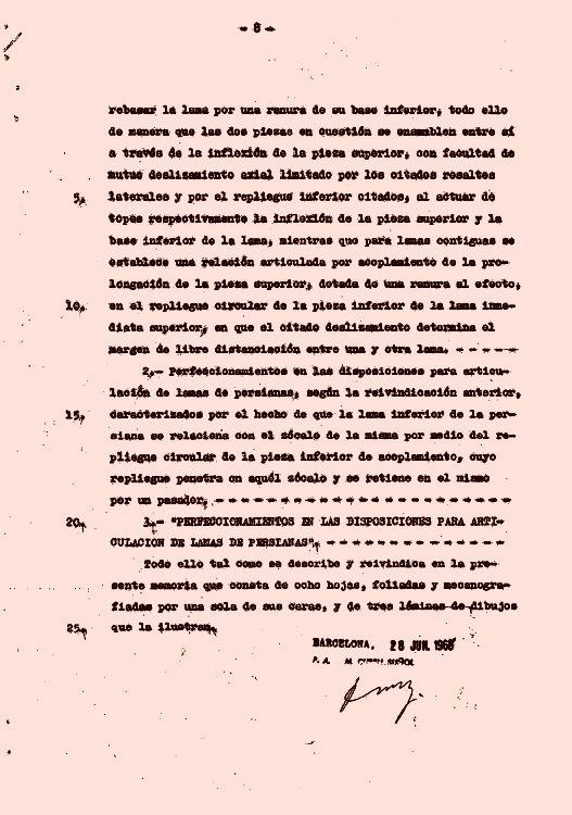 DISPOSICION PARA ARTICULACION DE LAMAS DE PERSIANAS.