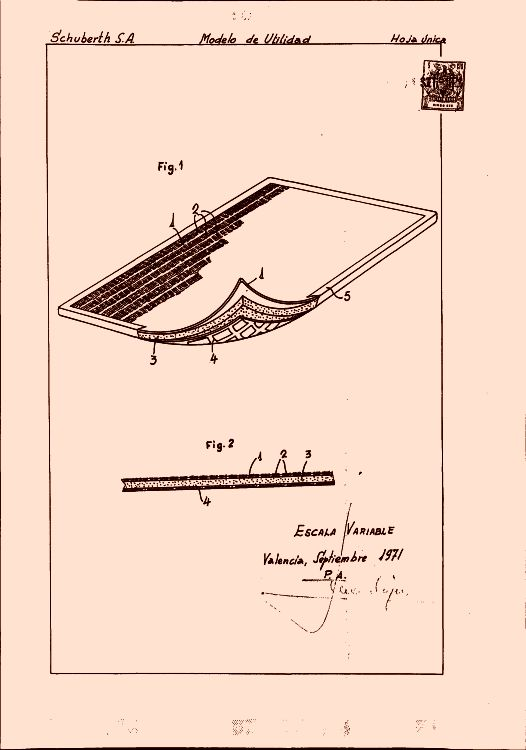 Schuberth s a 12 patentes modelos y o dise os for Clasificacion de alfombras
