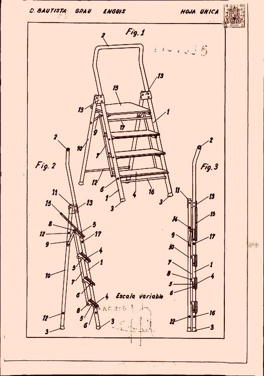 Escalera plegable 15 16 de abril de 1972 for Silla escalera plegable planos