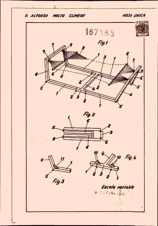 Estructura plegable para soportes de hamacas - Estructura hamaca ...