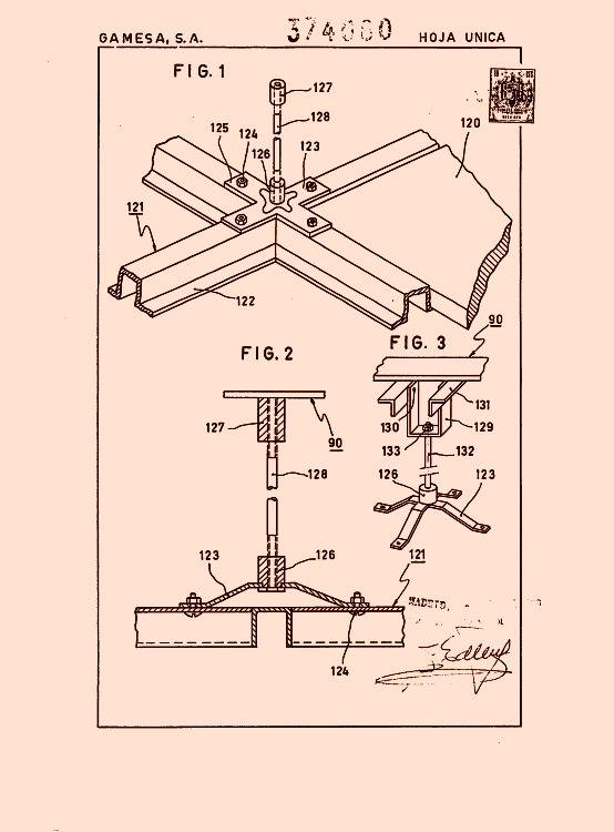 Gamesa s a 37 patentes modelos y o dise os for Cielorrasos de casas