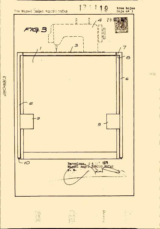Mueble para maquina de coser 16 de junio de 1973 - Mueble para maquina de coser ...
