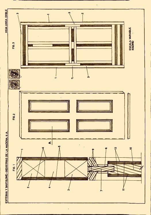 puerta canteada con bastidor interior alistonado y
