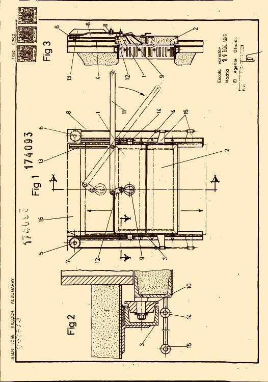 Puerta guillotina 1 de enero de 1973 for Puerta guillotina