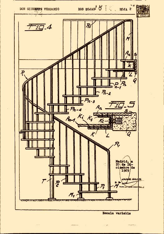 Verderio giuseppe 6 patentes modelos y o dise os - Ver escaleras de caracol ...