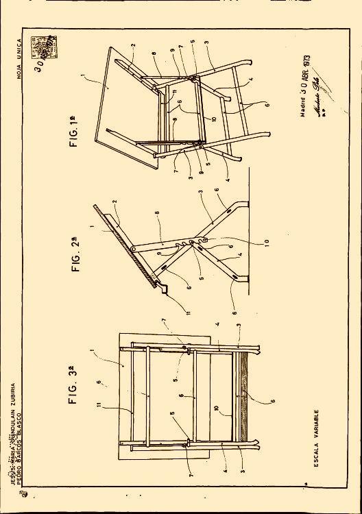 Mesa de dibujo plegable 1 de diciembre de 1974 Mesa para dibujo tecnico