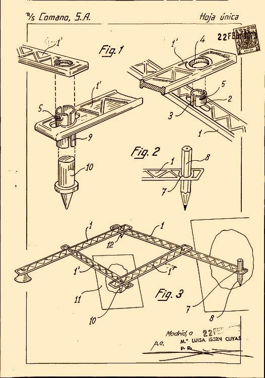Plantilla Pizzini Curvas Regla Plantografo - Tableros en Arquitectura