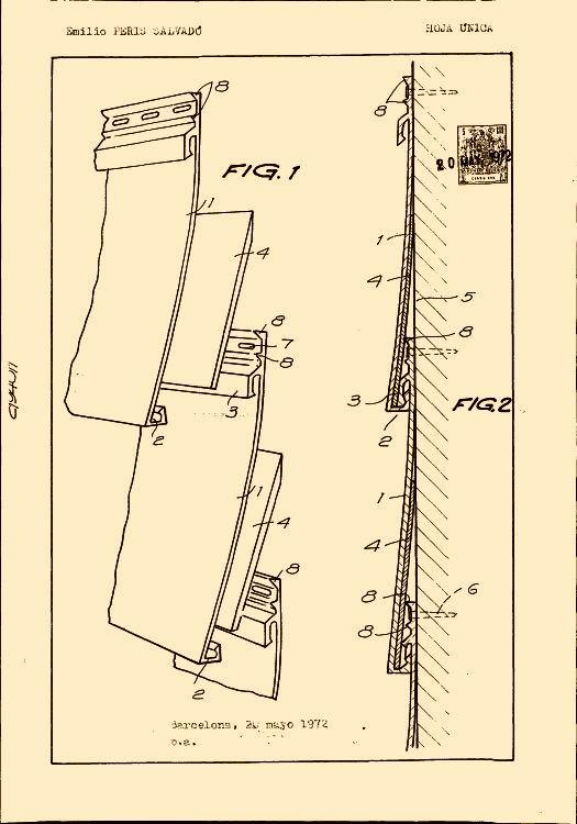 Peris salvado emilio 10 patentes modelos y o dise os - Recubrimiento para paredes ...