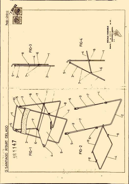 Silla plegable perfeccionada 32 for Sillas para planos