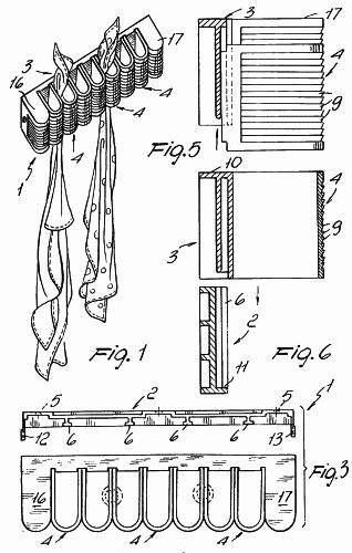 Estructura de colgador para objetos tales como pa os for Colgador utensilios de cocina