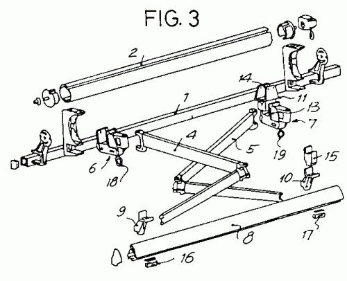Perfeccionamientos en la estructura de soporte de toldos for Estructura de toldo