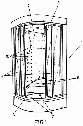 Cabina modular para ducha e hidromasaje multiuso mejorada for Partes de una regadera