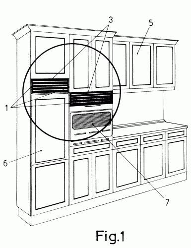 Rejilla para amueblamientos de cocina o similares for Muebles escribano calatayud