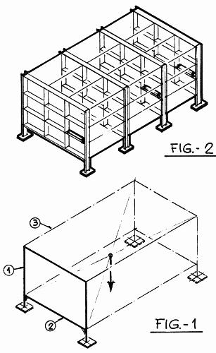 Estanteria perfeccionada para soporte de perfiles y chapas for Perfiles de estanterias metalicas