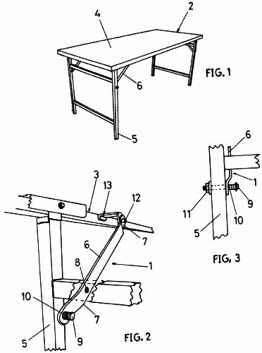 Con patas pivotantes sobre el tablero o armaz n de la mesa - Patas plegables para tableros ...