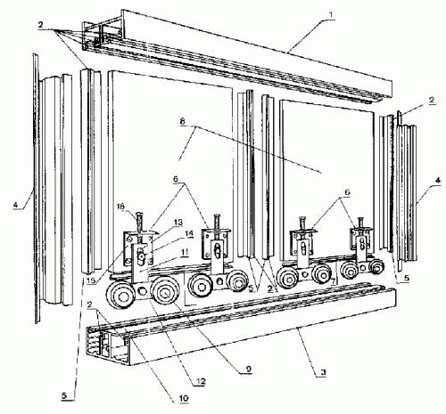 Sistema de deslizamiento de puertas correderas en armarios - Sistema puerta corredera ...