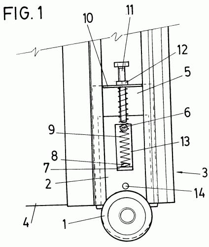 mecanismo de amortiguacion de ruedas de puertas correderas