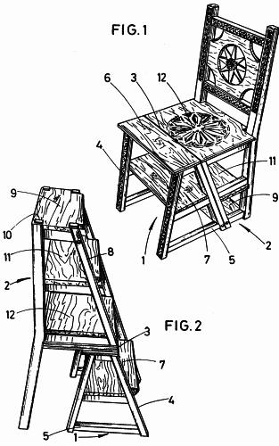Sillas butacas taburetes o bancos transformables for Silla convertible en escalera