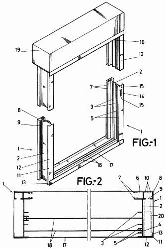 Perfil para marcos de ventanas y balconeras con guias de for Partes de una persiana